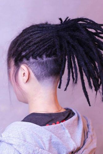 Dreadlocks Undercut #womenundercut
