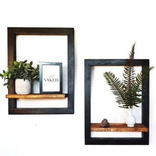 Frame Wooden Floating Shelves #frameshelves #woodenshelves