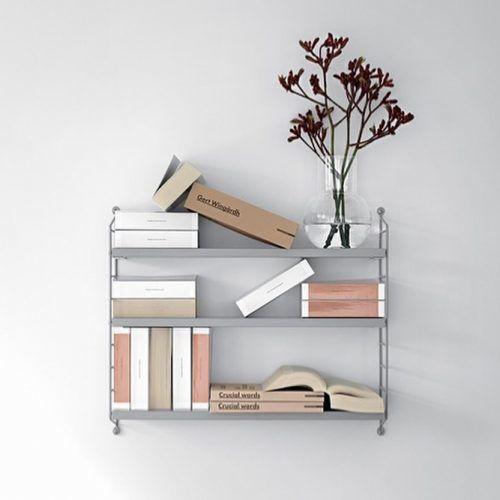 3-tier Metallic Floating Shelves #3tiershelves #metallicshelves