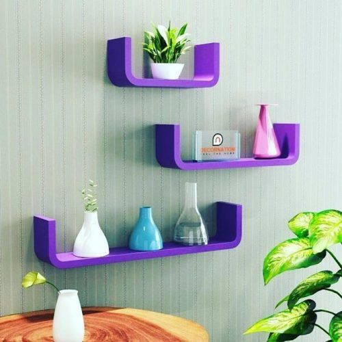 Bright Modern Floating Shelves #modernshelves #colorfulshelves