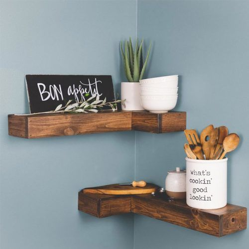Small Rustic Corner Shelves #cornershelves