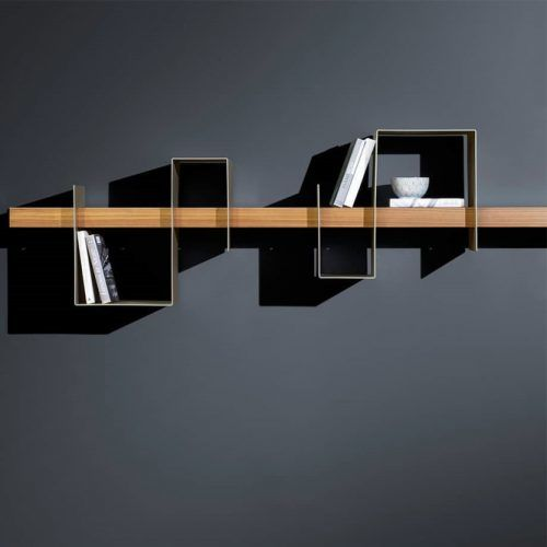 Metallic F Serpentine-shaped Brackets #modernshelf #serpentineshelf