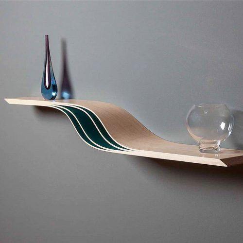 Modern 3d Wall Floating Shelf #3dshelves #waveshelf