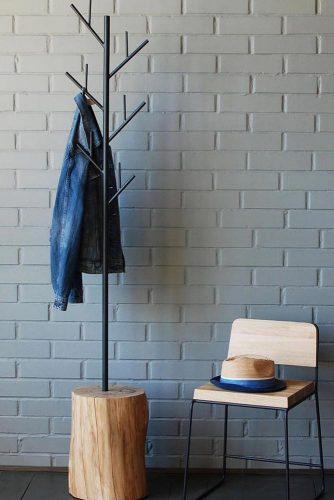 Minimalist Hall Tree #minimalistfurniture