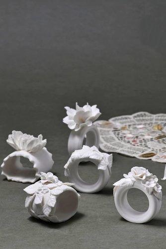 White Porcelain Napkin Rings #porcelainring