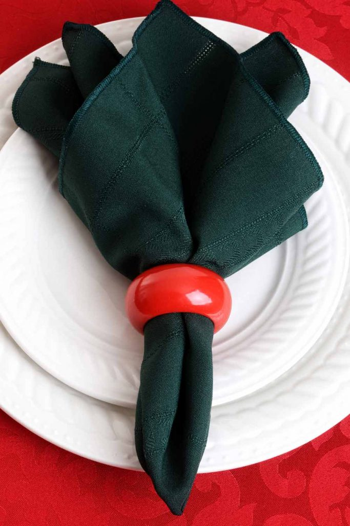 Easy Christmas Napkin Ring Decor