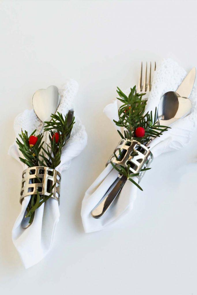 Christmas Napkin Ring Decor
