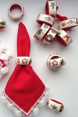 Traditional Ornaments Napkin Rings #traditionalornament #christmasring