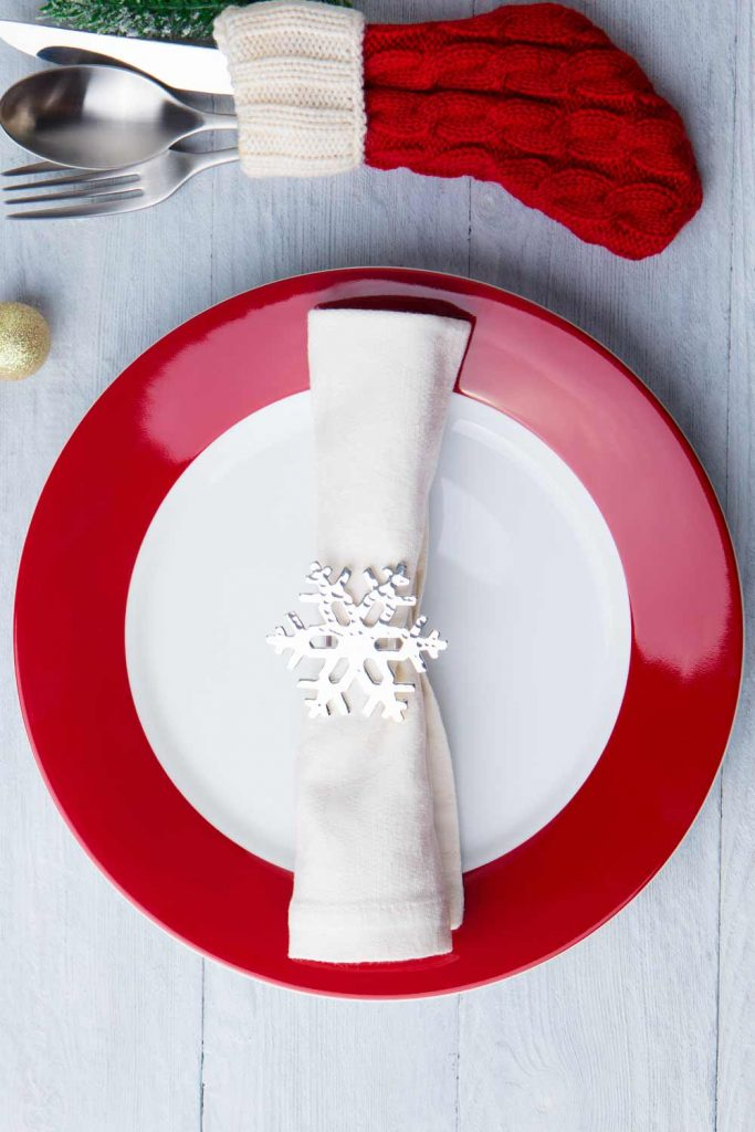 Napkin Ring with Snowflake
