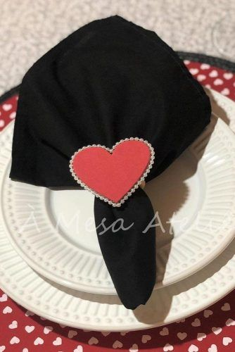 Heart Napkin Ring Design #heartring #holidayring