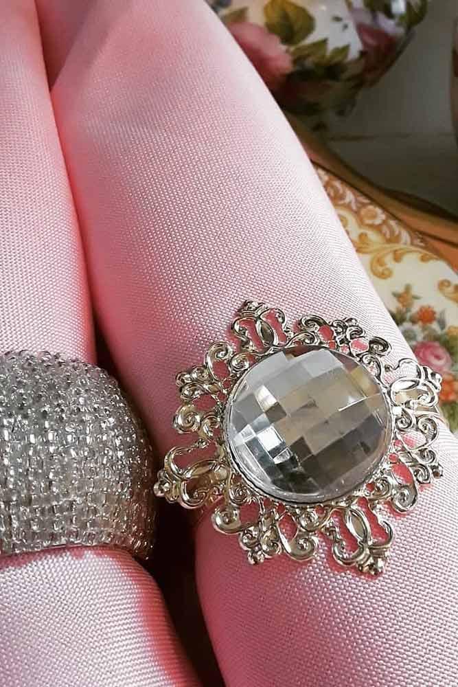 Silver Crystal Design #crystalnapkinring