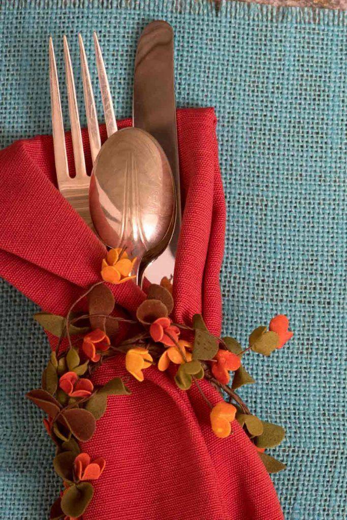 Beautiful Thanksgiving Day Napkin Ring
