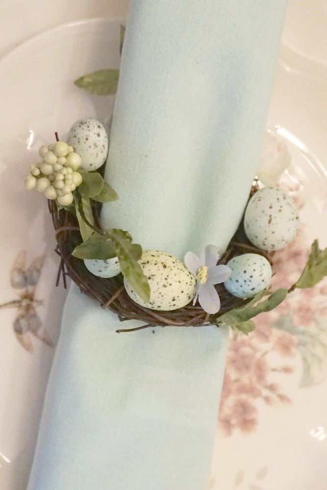 Rustic Easter Wreath Ring Design #wreath #easterring