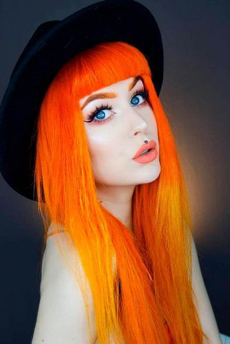 Neon Orange Hair Shade #neonhair #electrichair