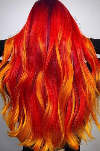 Bright Orange Hair Color #brighthaircolor #coloredhair