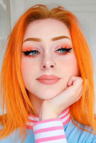 Ginger Shades Of Orange Hair #layeredhair #mediumhair #coloredhair