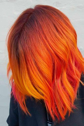 Burning Phoenix Hair Shade #gradienthair #hairhighlights