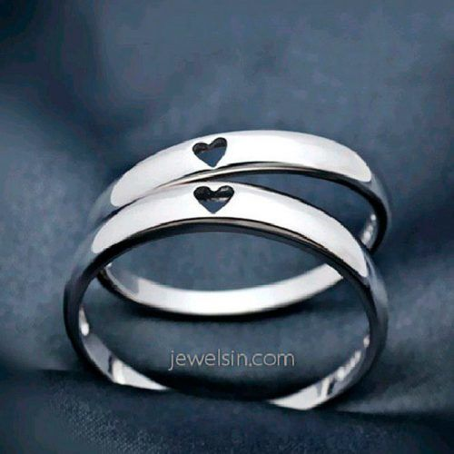 Couple Promise Ring In Minimalistic Design #couplerings