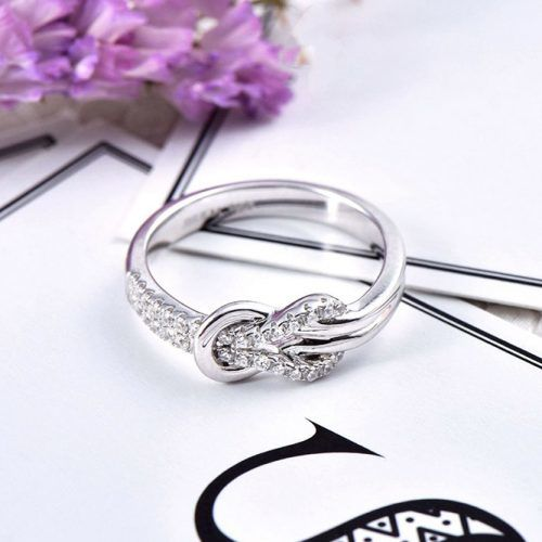 Knot Promise Ring With Diamonds Chic #ring #jewelry