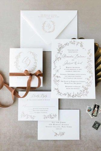 Use Ribbon For Decoration #wedding #weddinginvites