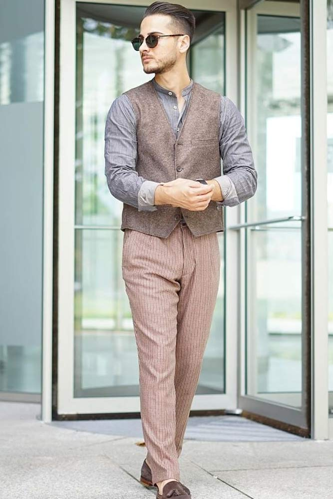 Monochromatic Business Outfit With Waistcoat #waistcoat #pants