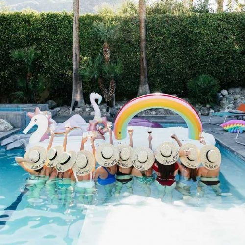 Bachelorette Swimming Pool Party #poolparty #bridetobe