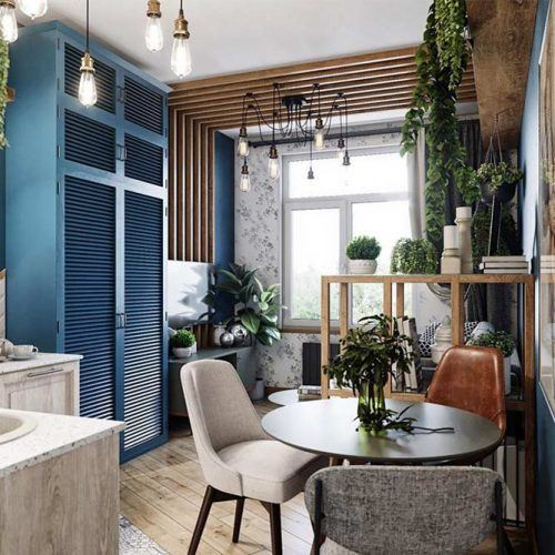 How Do You Maximize Space In A Studio Apartment #plantsdecor #dinnertable