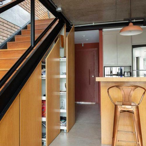Have Organizational Systems In Place To Control Clutter #spacestorage #stairs