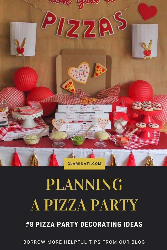 Pizza Party Decorating Ideas #pizzapartytheme #partydecor