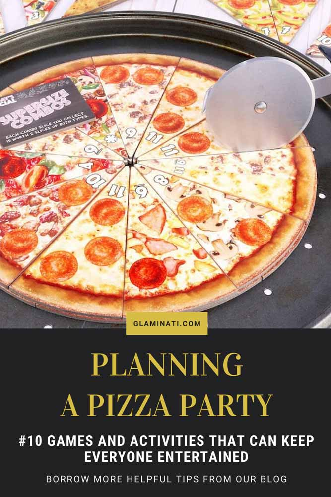 Pizza Party Game Ideas #boardgame #activities