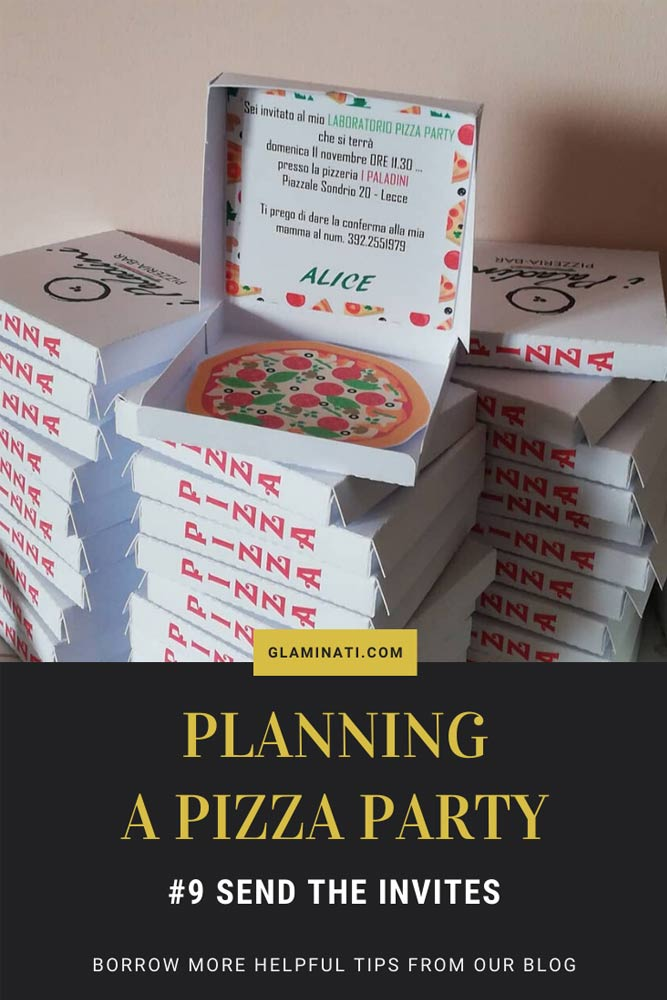 Pizza Party Invitations #invites