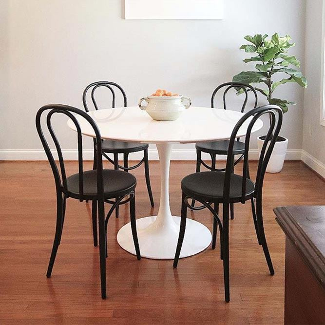 Silhouette Pedestal Modern Dining Table #bistrotable