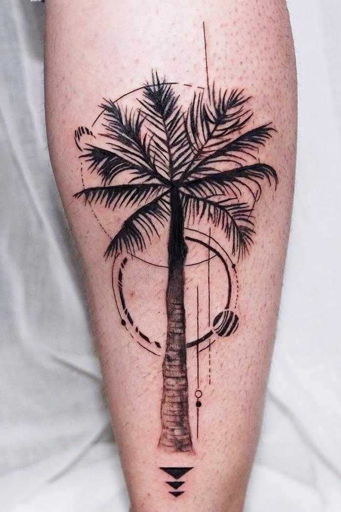 Palm Tree Tattoo Design