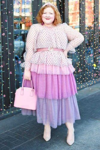 Plus Size Layered Skirt Outfit #plussize