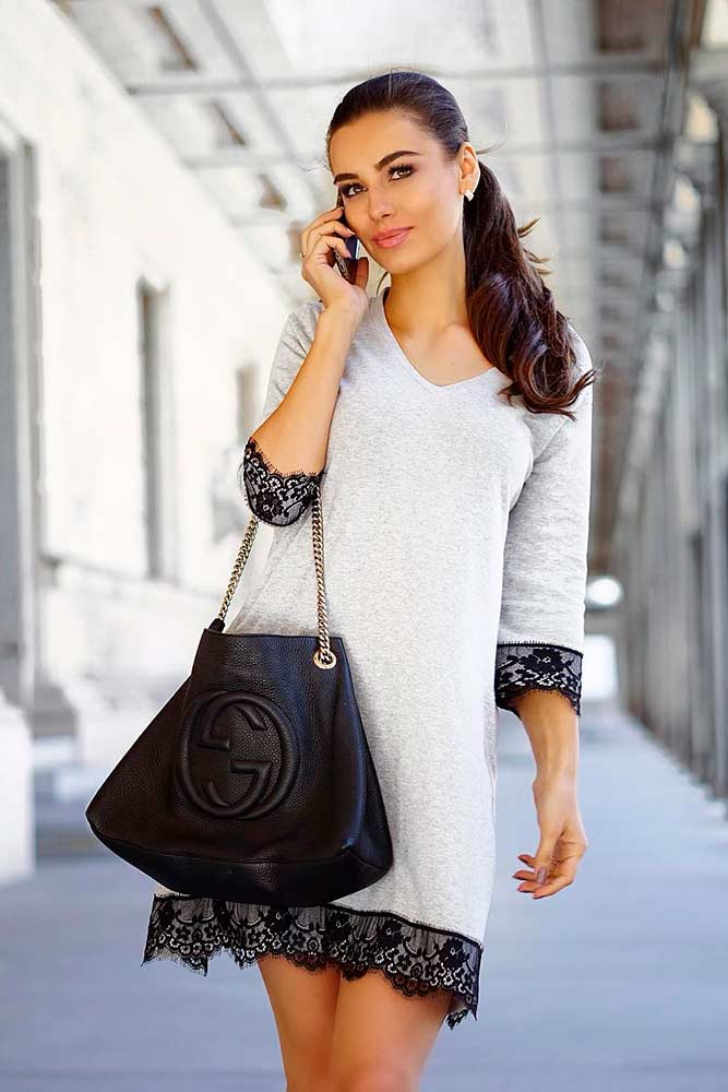 Shift Dress With Long Sleeves #shiftdress #casuallook