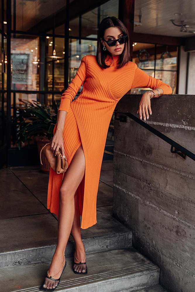Midi Sweater Dress #mididress #sweaterdress