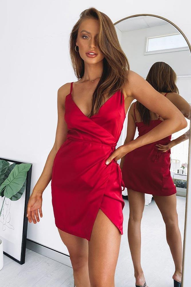 Wrap Mini Dress #wrapdress #sexydress