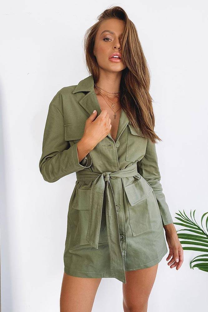Shirt Dress #shirtdress #khakidress