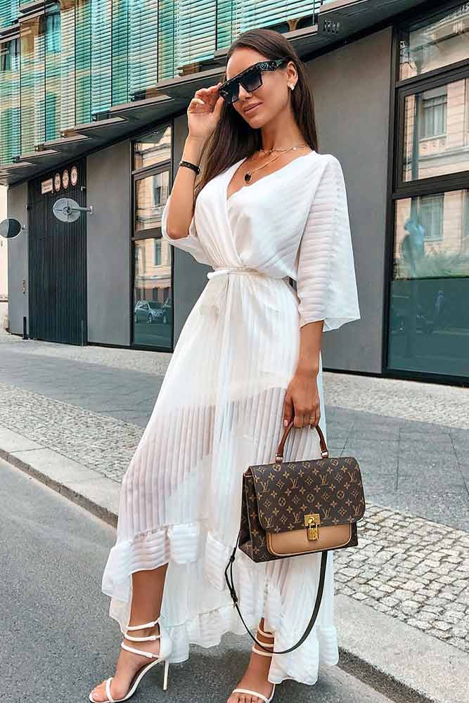 Asymmetrical Dress #asymmetricaldress #whitedress