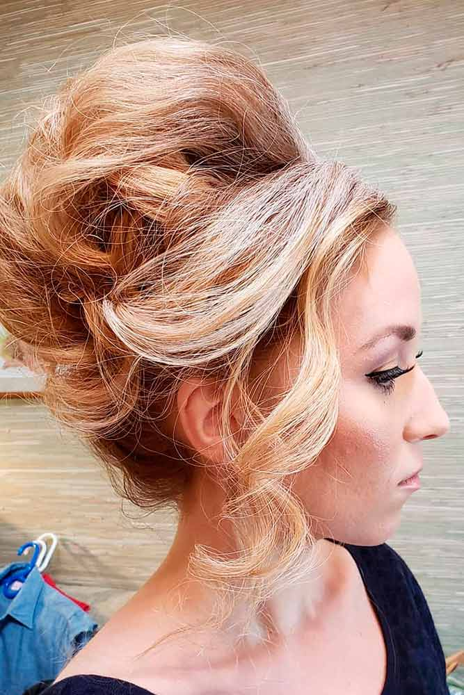 Beehive Hairstyle With Curls #curls #curlyhair