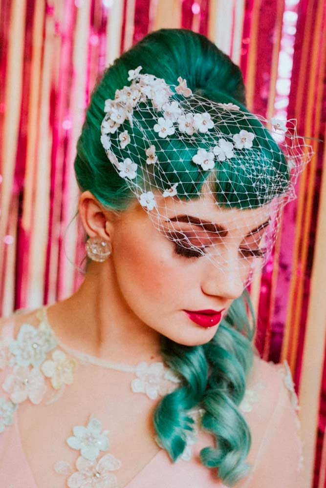Wedding Hairstyles #weddinghairstyle #greenhair