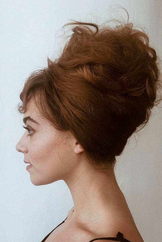 Messy Beehive Hairstyle #messyhair #messyhairstyles