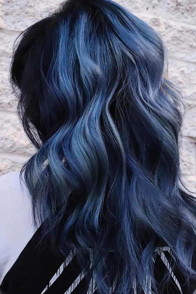 Ash bLue And Black Hair #ashhair #ashhaircolor