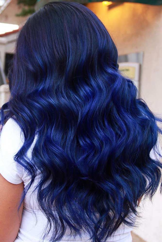 Can You Add Blue To Black Hair? #bluehair #hairbalayage