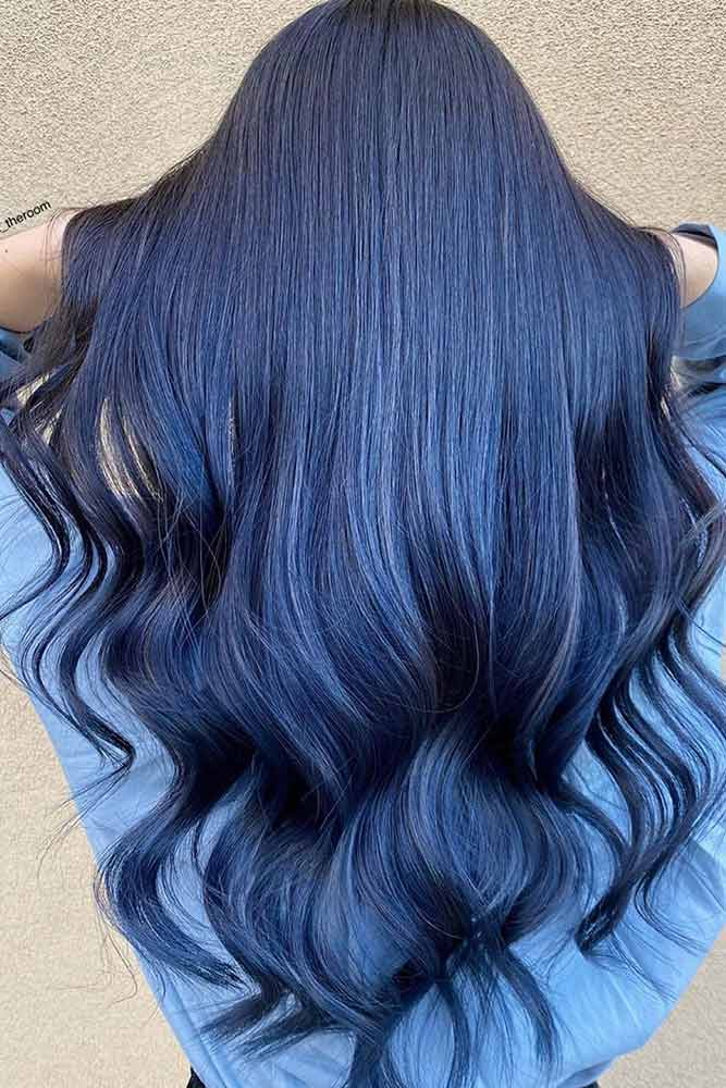 How To Get Blue Black Hair #longhairstyles #blackhair