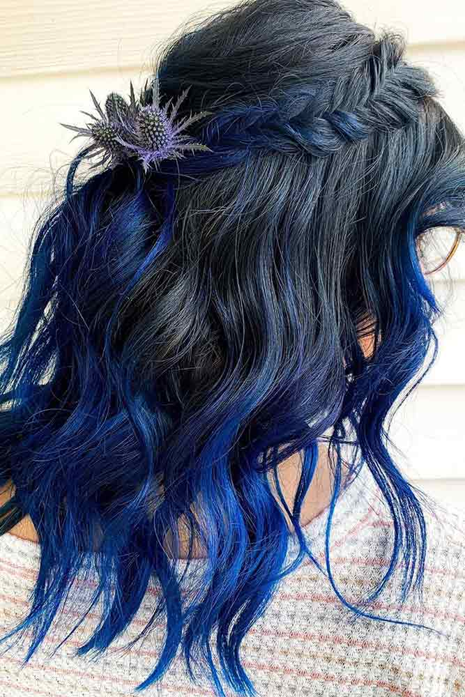 How To Maintain Blue-Black Hair #layeredhair #wavyhairstyles
