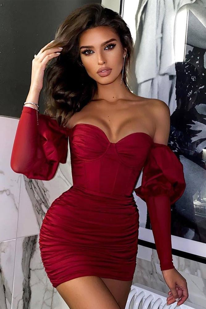 Red Off The Shoulder Dress #reddress