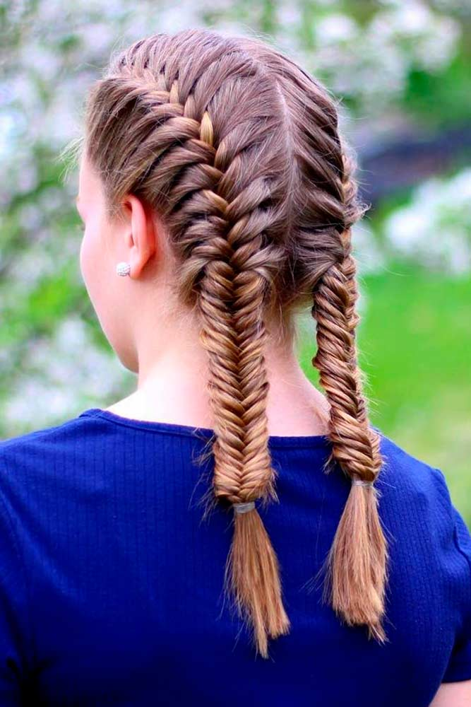 French Braids Pigtails #frenchbraids #braidspigtails