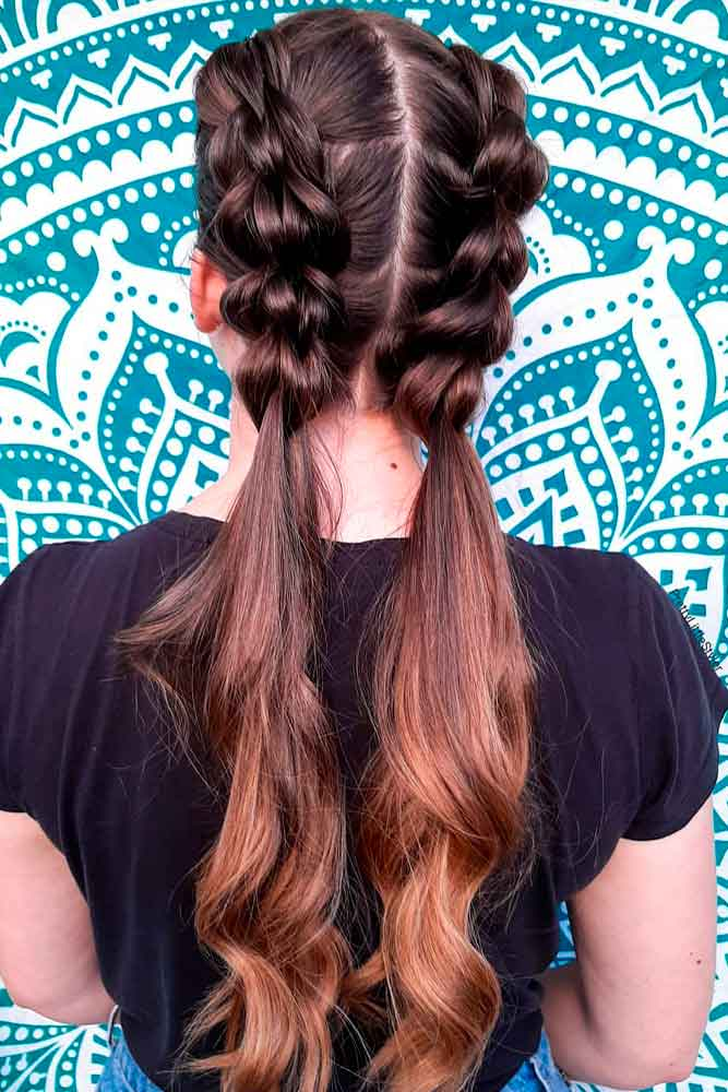 Pretty Ponytails For Long Hair #prettyhairstyles #easyhairstyles