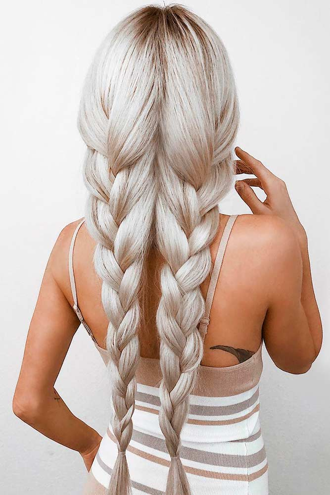 Simple Braids #braids #easyhairstyles
